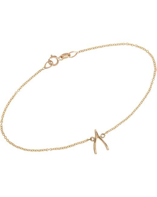 Jennifer Meyer | Metallic Wishbone Charm Bracelet Size Os | Lyst