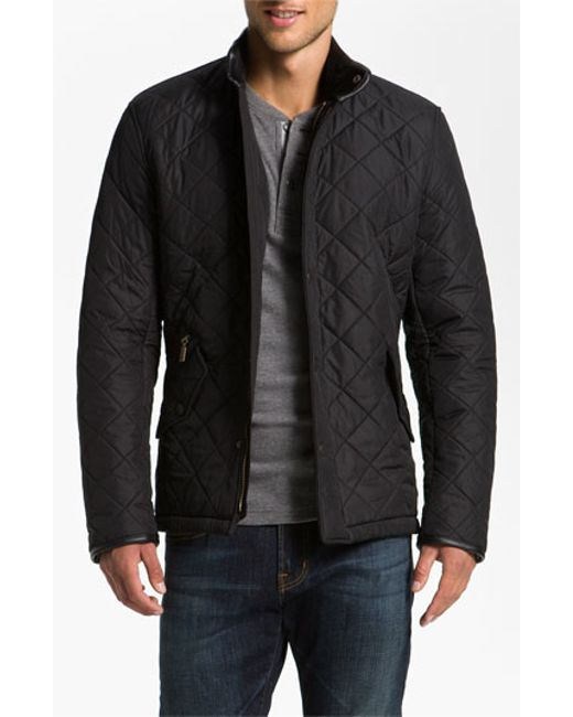 Barbour | Black 'powell' Regular Fit Quilted Jacket for Men | Lyst