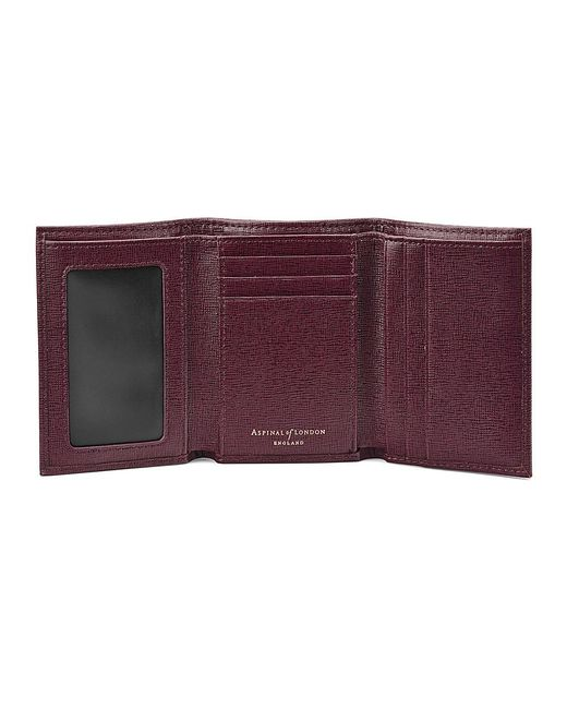 Aspinal | Purple Trifold Wallet | Lyst