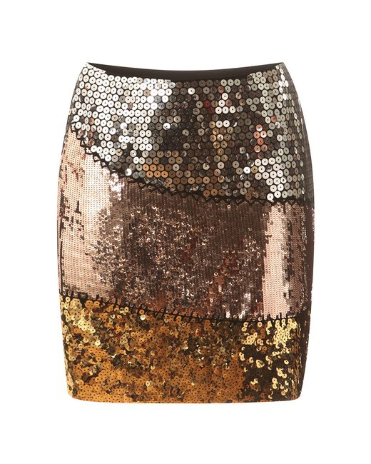 Moschino   Multicolor Sequined Silk Mini Skirt   Lyst