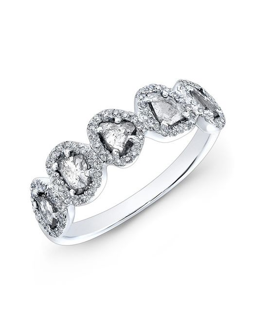 Anne Sisteron | Metallic 14kt White Gold Diamond Slice Princess Ring | Lyst