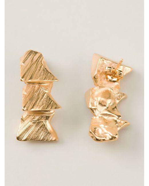 Imogen Belfield | Metallic 'Triple Star' Earrings | Lyst