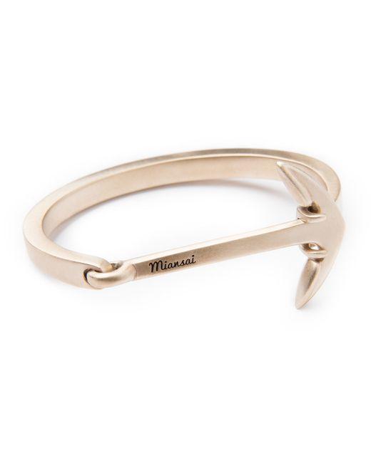 Miansai | Metallic Anchored Cuff Bracelet | Lyst