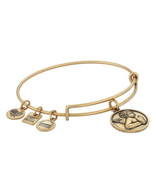 ALEX AND ANI   Metallic Charity By Design - Cherub Expandable Charm Bangle Bracelet   Lyst