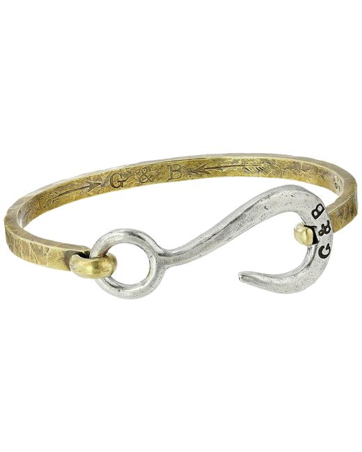 Giles & Brother | Metallic Hook With Hinge Cuff Bracelet for Men | Lyst