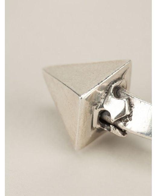 King Baby Studio | Metallic Thick Pyramid Bangle | Lyst