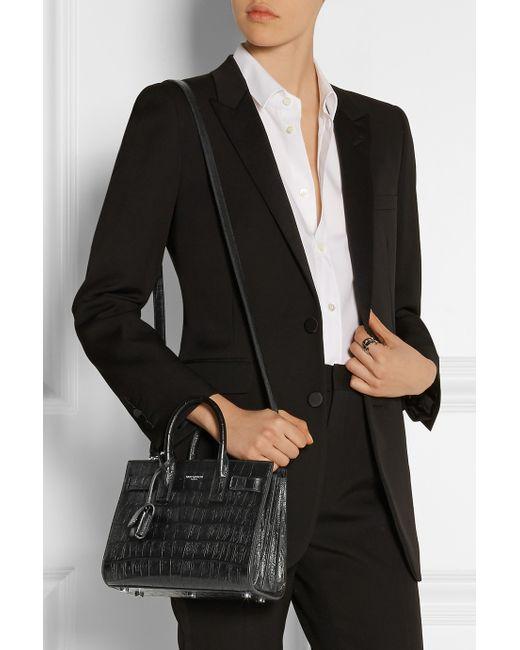 ysl handbags on sale - sac de jour crocodile-stamped satchel bag, red