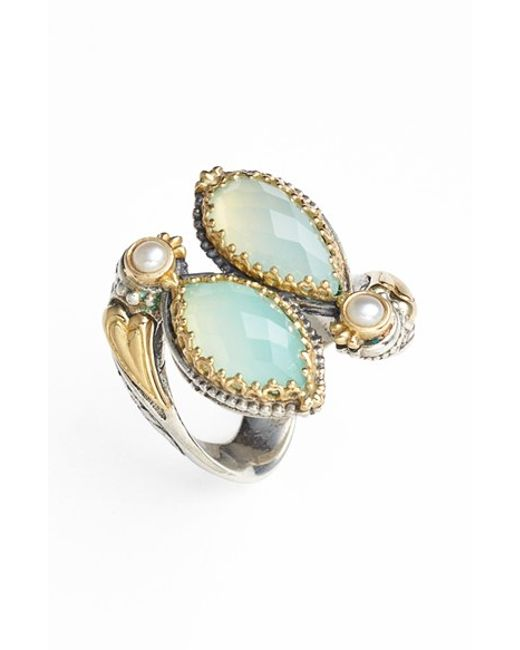 Konstantino | Blue 'amphitrite' Pearl & Semiprecious Stone Cluster Ring | Lyst
