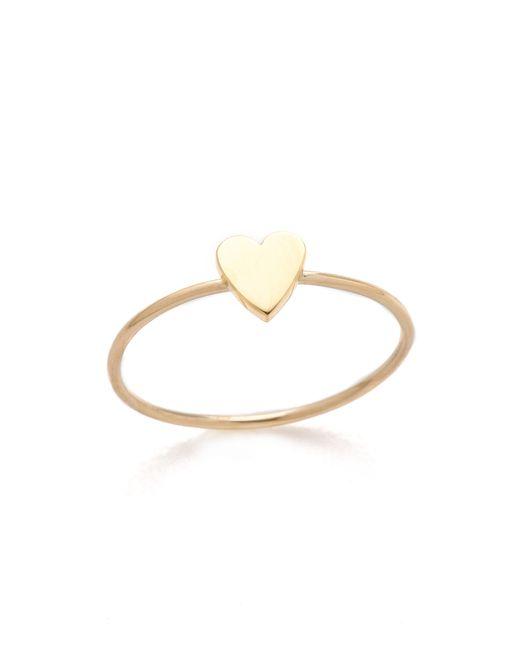 Jennifer Meyer | Metallic Mini Heart Ring | Lyst