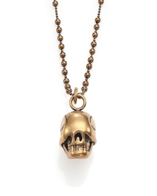 Givenchy | Metallic Skull Necklace for Men | Lyst
