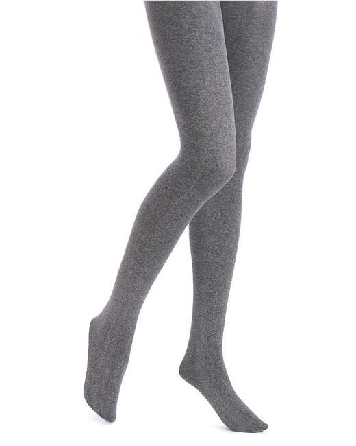 Hue | Gray Opaque Tights With Control Top | Lyst