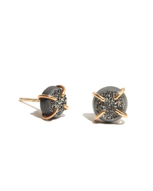 Melissa Joy Manning | Gray Small Silver Druzy Stud Earrings | Lyst