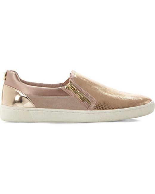 dune edgar leather and suede skate shoes in pink blush