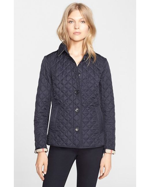 Burberry Ashurst Quilted Shell Jacket In Black Navy Lyst