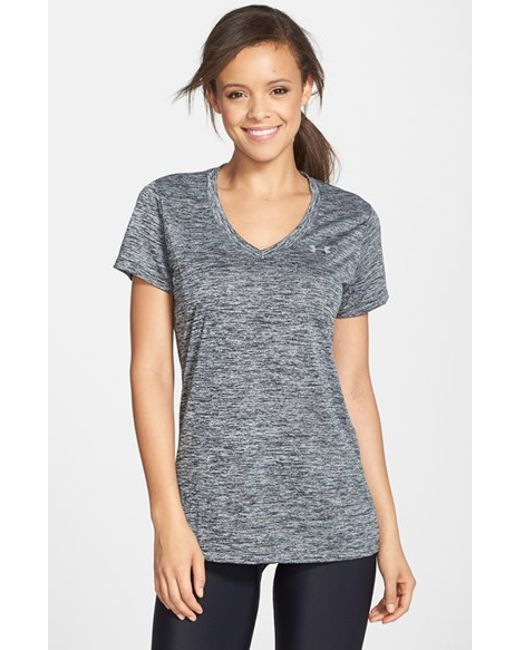 Under Armour | Gray 'twisted Tech' Tee | Lyst