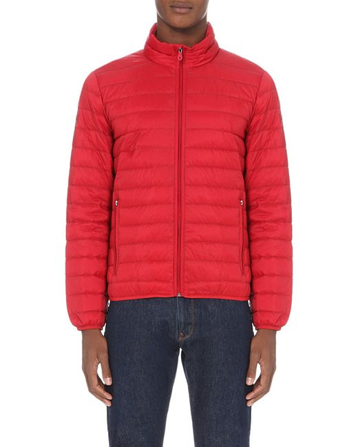 Invest in a Men's Quilted Jacket this winter from luxury brands including Moncler, Belstaff & Canada Goose. Quilted jackets are a great way to stay warm without sacrificing on style. From Moncler and Belstaff to Canada Goose and True Religion, we've taken care of business. red quilted shell jacket. £ New In. Moncler.