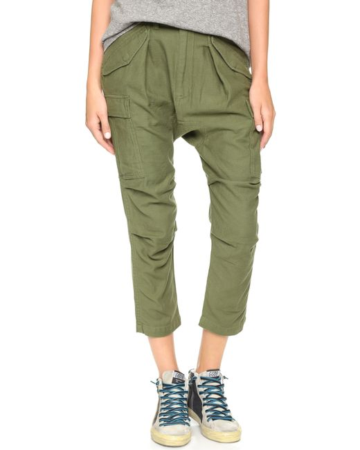 Unique Womens Ladies Girls Green Olive Drab Army Military Cargo Capri