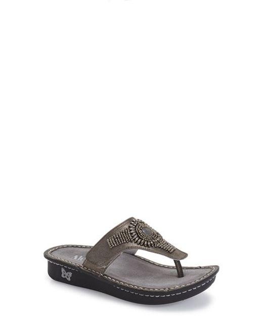 Alegria | Metallic 'vanessa' Thong Sandal | Lyst