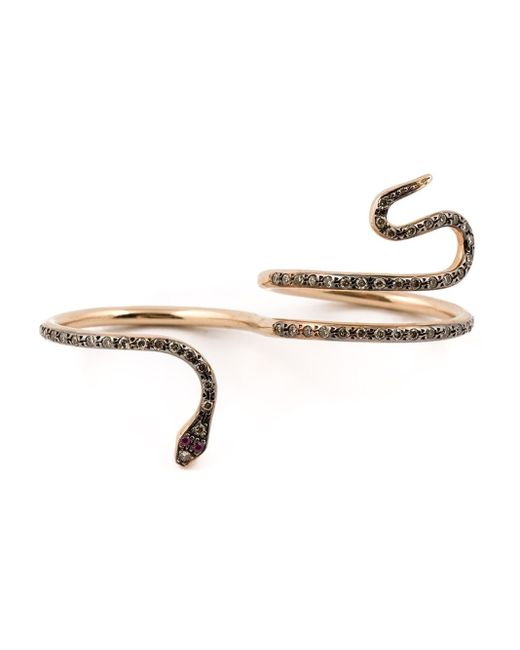 Ileana Makri | Metallic Champagne Diamond & Rose-Gold Ring | Lyst