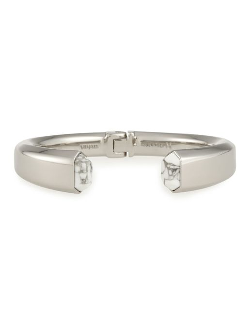 Vita Fede | Metallic Obsedia White Howlite Hinge Bracelet | Lyst