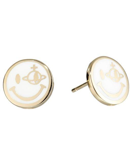 Vivienne Westwood | Metallic Smiley Earrings | Lyst