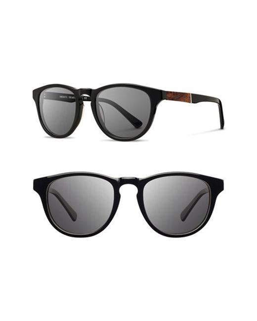 Shwood | Black 'francis' 49mm Sunglasses for Men | Lyst