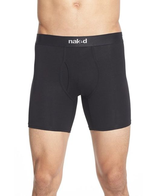 Naked | Essential 2-pack Stretch Cotton Boxer Briefs, Black for Men | Lyst