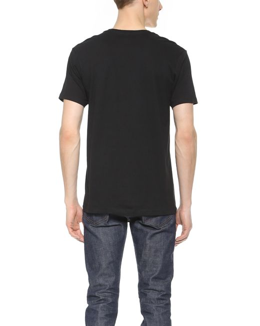 calvin klein 3 pack v neck t shirts in black for men lyst. Black Bedroom Furniture Sets. Home Design Ideas
