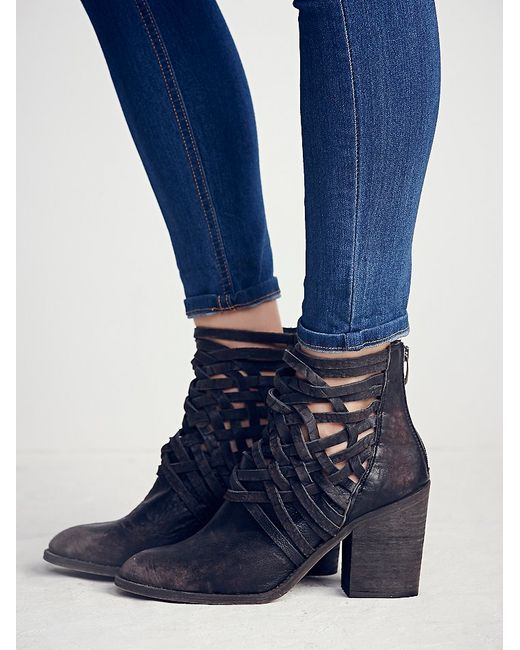 Free People | Black Las Palmas Ankle Booties | Lyst