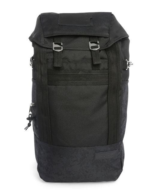 Leather Eastpak Backpack: Eastpak Black Bust Leather Details Backpack 20 L In Black