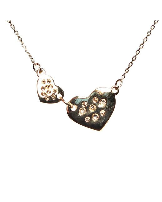 Mikey | Metallic Heart Necklace | Lyst