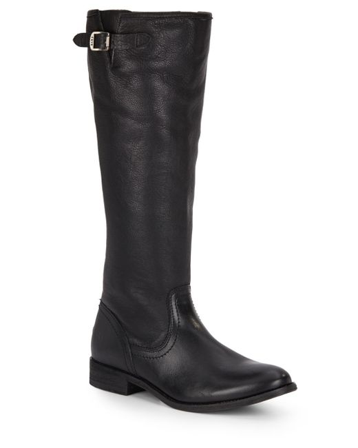 Frye | Black Pippa Leather Knee Boots | Lyst