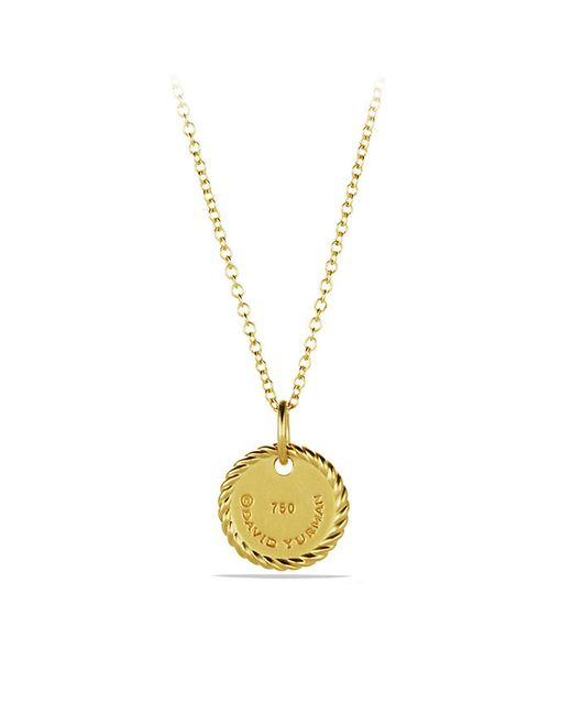 David Yurman | Metallic Initial Charm Necklace With Diamonds In 18k Gold | Lyst