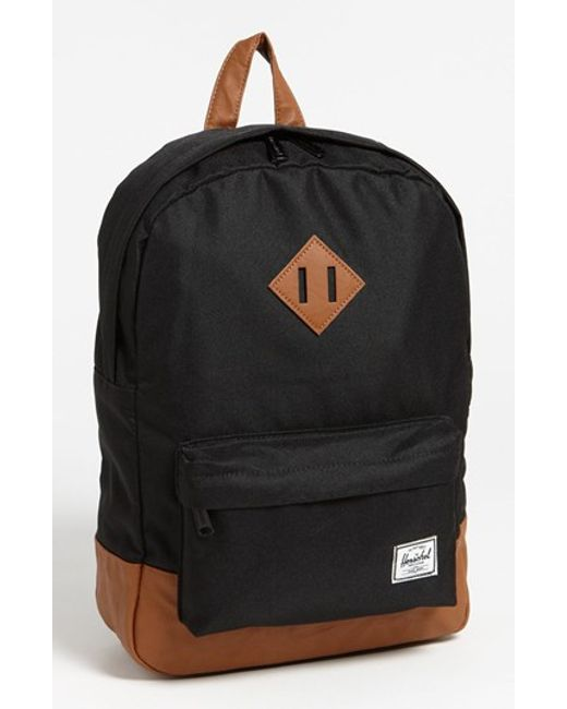 Herschel Supply Co. | Black 'heritage Mid Volume' Backpack | Lyst