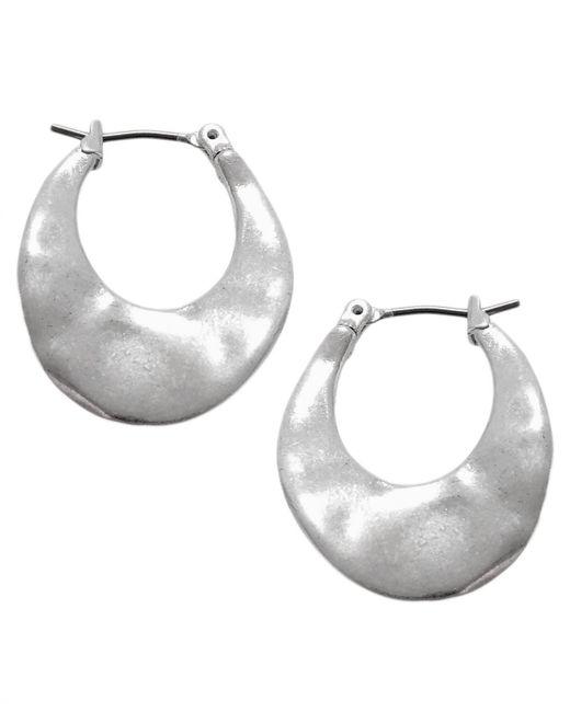 Kenneth Cole   Metallic Earrings, Silver-tone Small Hoop Earrings   Lyst