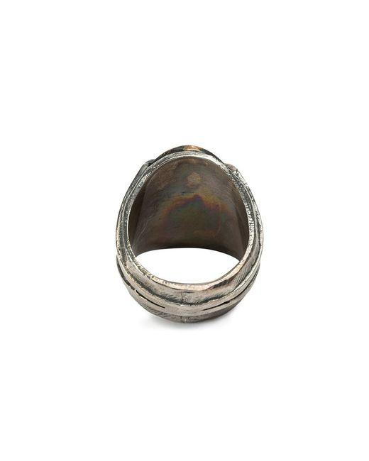 Tobias Wistisen | Metallic 'twin Heart' Ring for Men | Lyst