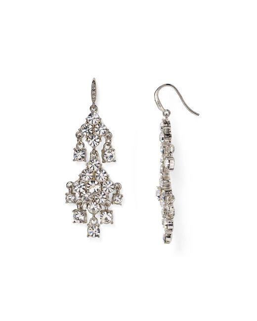 Carolee | Metallic Pavé Chandelier Earrings | Lyst