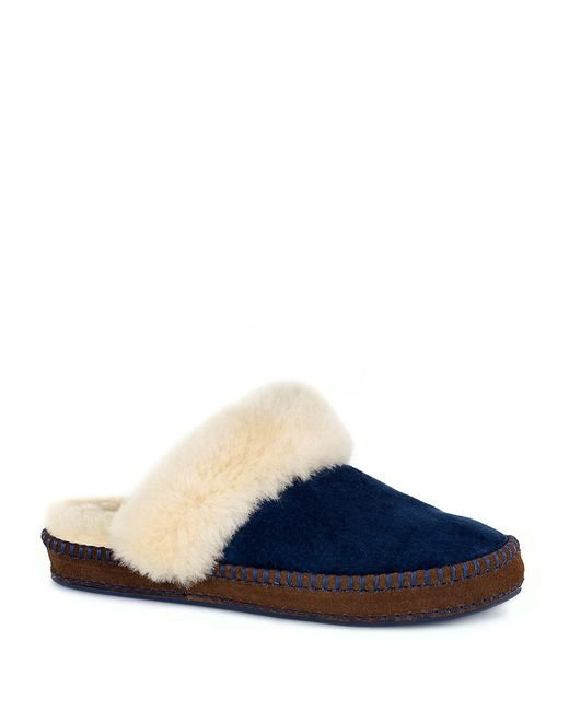 UGG | Blue ® Aria Decorative Foxing Stitch Water-resistant Slippers | Lyst