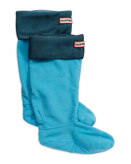 Hunter   Blue Ribbed Boot Socks   Lyst