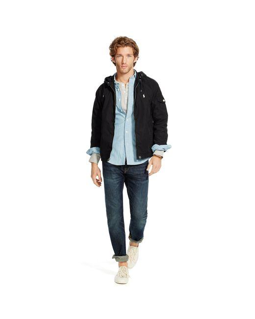 Polo Ralph Lauren   Black Cotton-blend Windbreaker for Men   Lyst