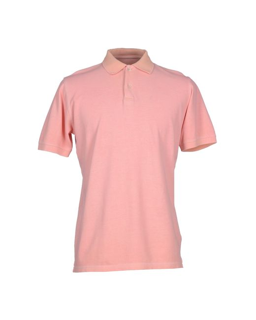 Alpha Massimo Rebecchi Polo Shirt In Pink For Men Salmon