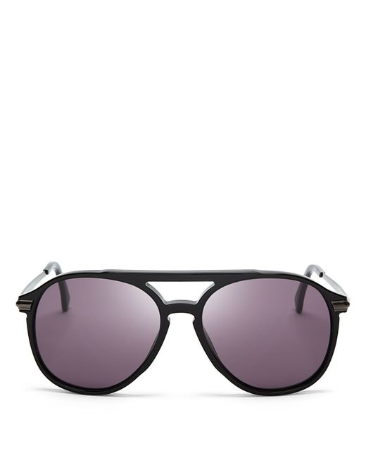 Wildfox | Black Baroness Aviator Sunglasses, 58mm | Lyst