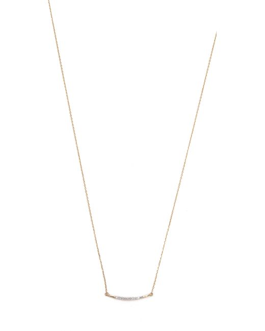 Adina Reyter | Metallic Small Pave Curve Necklace | Lyst
