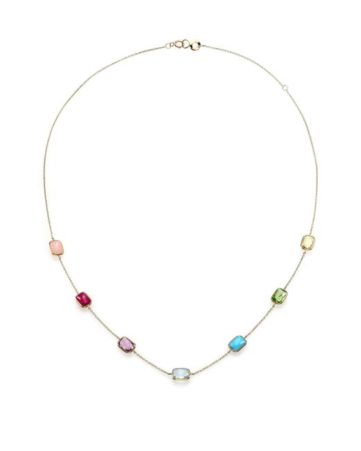 Ippolita   Metallic Rock Candy Summer Rainbow Semi-precious Multi-stone & 18k Yellow Gold Mini Gelato Station Neckla   Lyst
