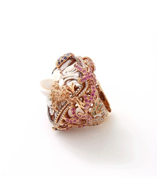 Wendy Yue   Pink Carved Pearl Ring   Lyst
