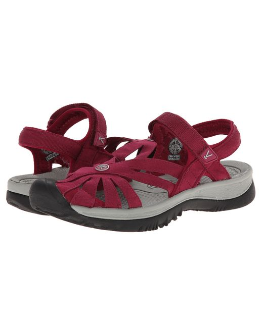 Keen Rose Sandal In Red Beet Red Neutral Gray Lyst