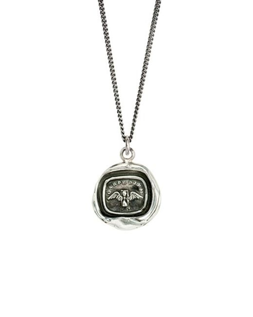 Pyrrha | Metallic Carpe Diem Talisman Necklace | Lyst
