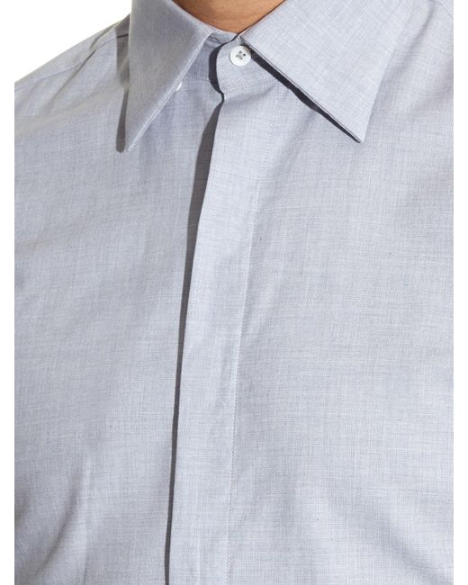 mathieu jerome hidden button down collar cotton shirt in