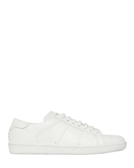 Saint Laurent | White Sl06 Leather Sneakers for Men | Lyst