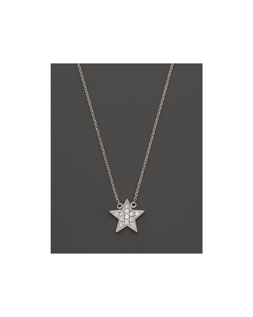 Dana Rebecca | Diamond Julianne Himiko Star Necklace In 14k White Gold, 16"